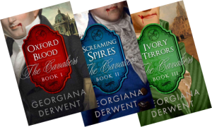 Covers of The Cavaliers Trilogy by Georgiana Derwent