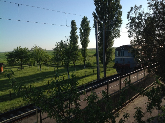 A sunny May morning at the Railway Test Centre in Faurei, Romania