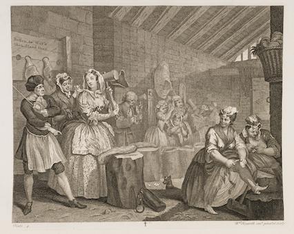 Hogarth Harlots Progress 4 Bridewell