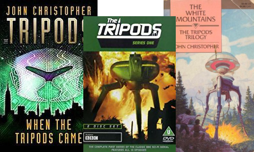 The Tripods: Trilogy and prequel by John Christopher; TV series by the BBC.